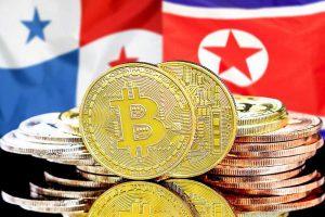 bitcoins-panama-north-korea-flag-background-concept-investors-cryptocurrency-blockchain-technology-178780593-obsidiam